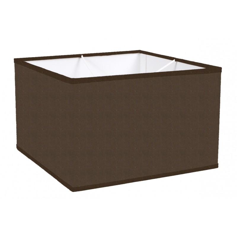 lampshade square cotton marron trim matched - Abat Jour Color