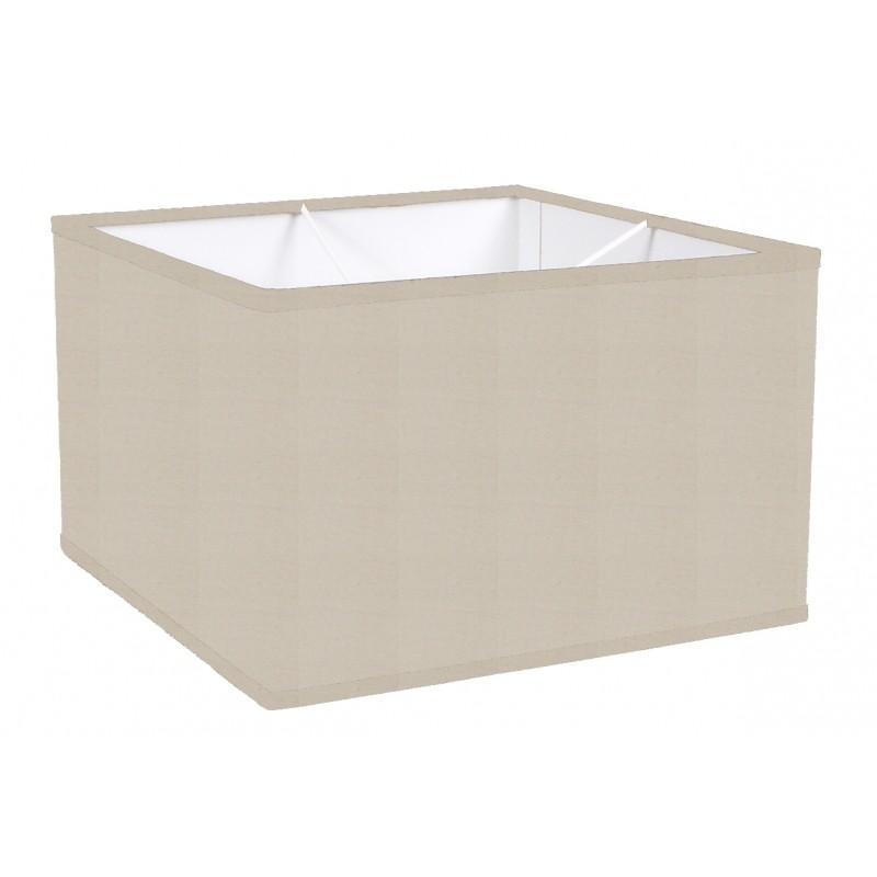 lampshade square cotton stone color trim matched - Abat Jour Color