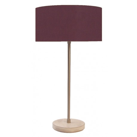TABLE LAMP WOOD AND IRON NICKEL