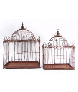 SET 2 BIRD CAGE