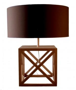 LAMPE DE TABLE EN BOIS DE CHENE