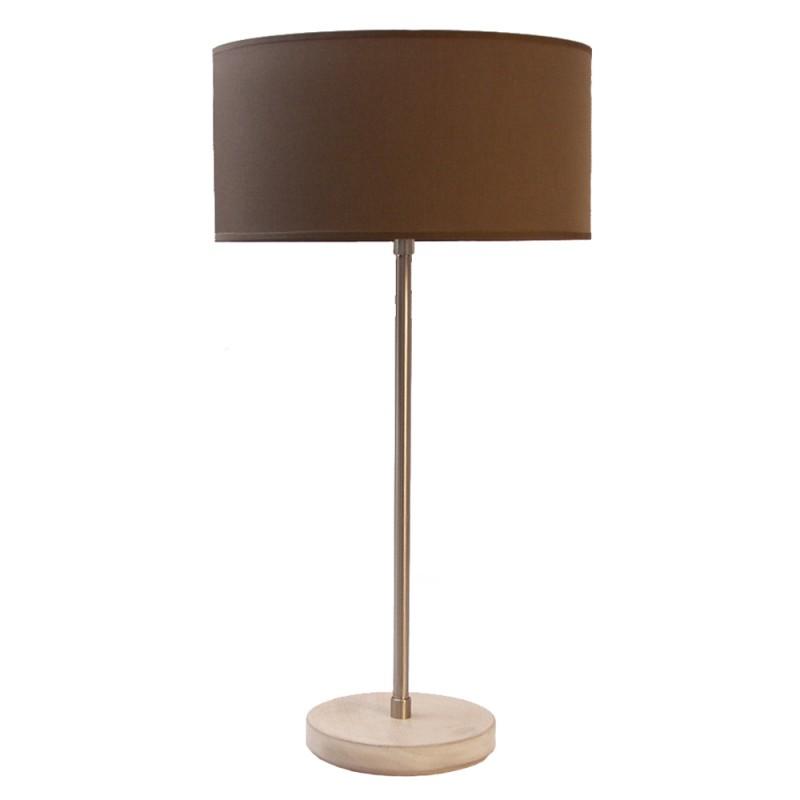 lampe de table bois et nickel. Black Bedroom Furniture Sets. Home Design Ideas