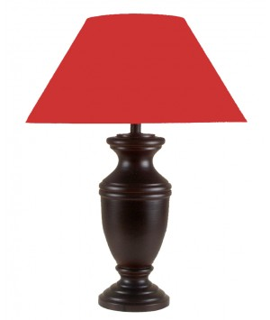 LAMP WOOD MANGO MAHOGANY PATINE
