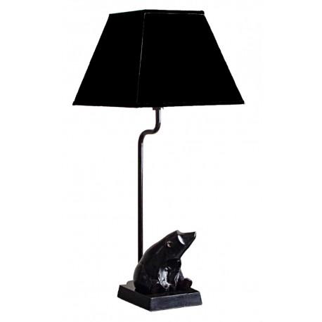 LAMPE EN METAL NOIR OURS