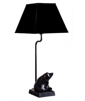 LAMP METAL BLACK BEAR DECOR