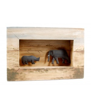 FRAME WITH ELEPHANT