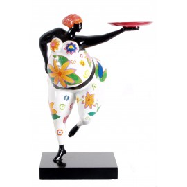 CANDLE HOLDER FIGURE GINETTE