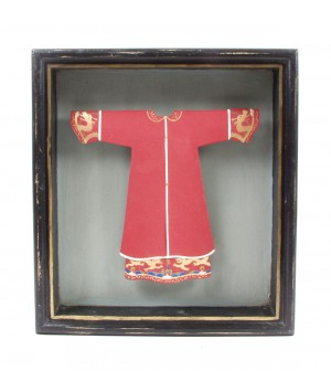frame with red tunic