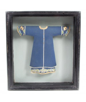 frame with blue tunic