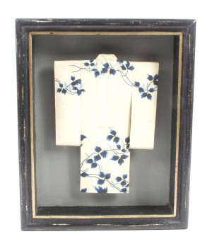 Frame with white tunic